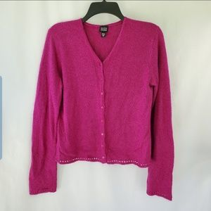 Eileen Fisher hot pink cardigan size M